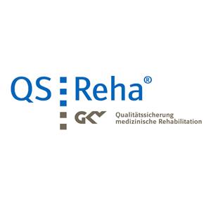 Logo Qualitätssicherungssystem QS REHA der gesetzlichen Krankenversicherung Nordseeklinik Westfalen