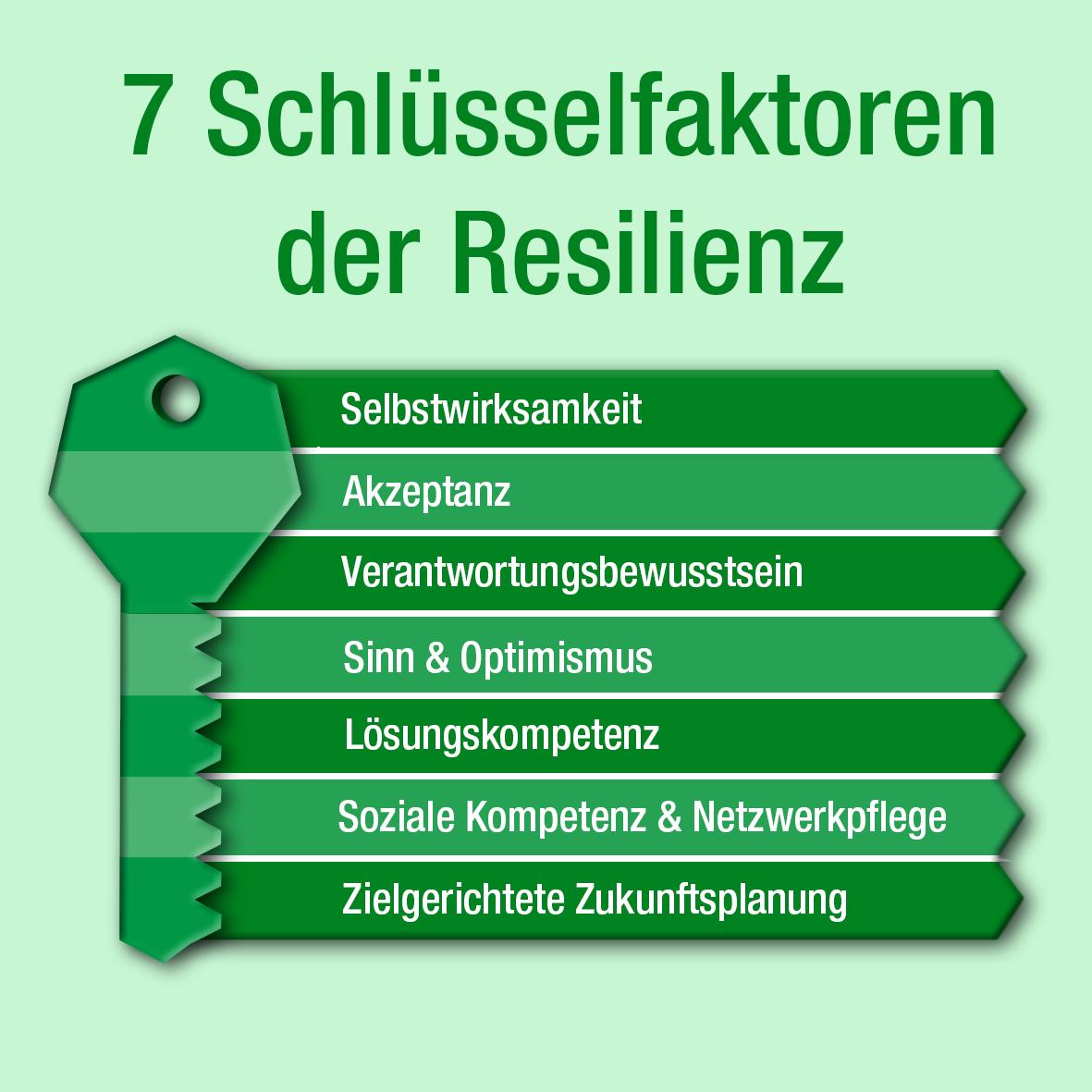 Schaubild 7 Schlüsselfaktoren der Resilienz in der Rehabilitation