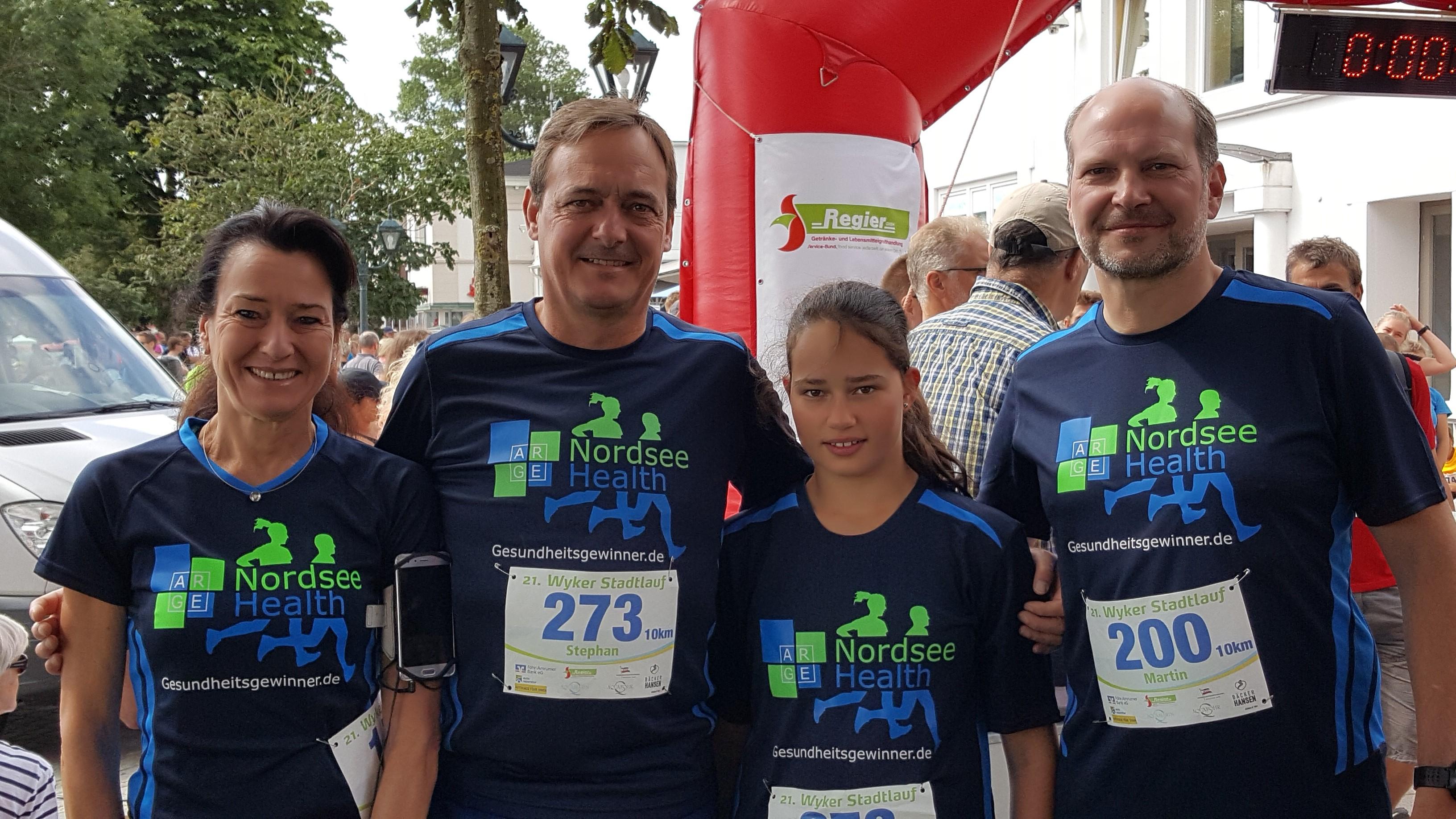 Die ARGE NORDSEE.HEALTH als Teilnehmer des 21. Wyker Stadtlaufs