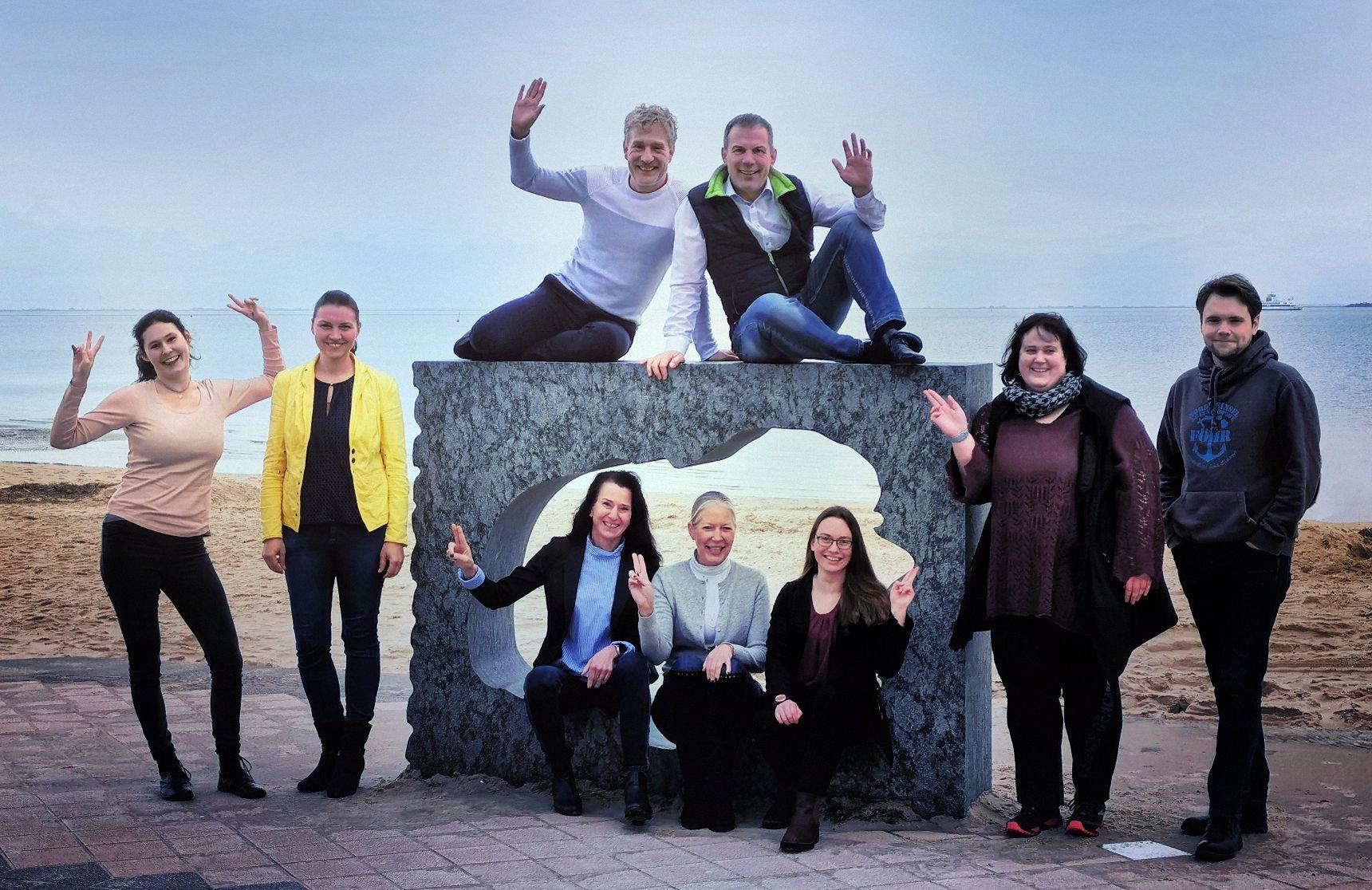 Seminar Zusatzqualifikation Wingwave Coach in der Nordseeklinik Westfalen mit allen Teilnehmern